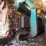 Papier afval pers